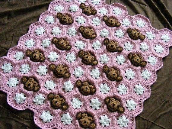 15 Adorable Animal Baby Blanket Crochet Patterns | Patrones manta ...