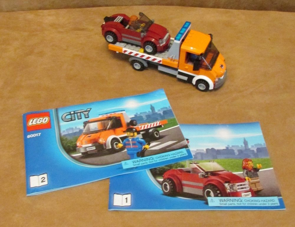 60017 Lego Flatbed Truck Complete Instructions Minifig City Truck
