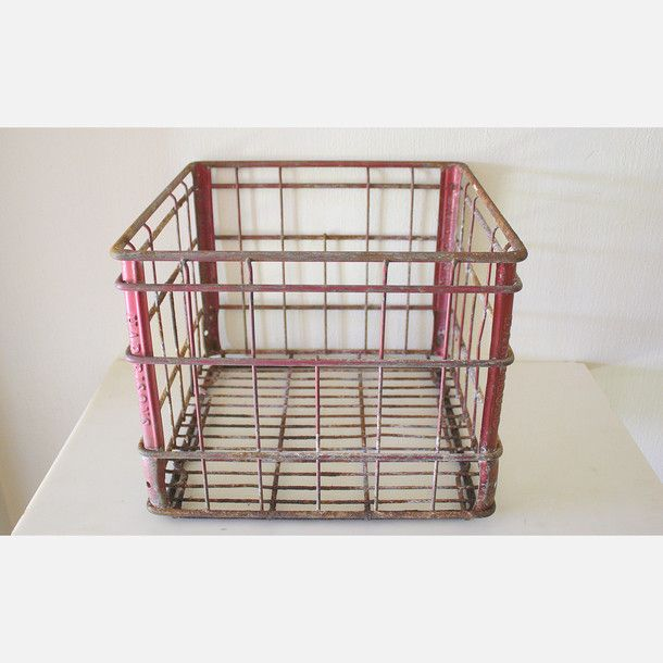 Metal Crate by Picked Vintage | Fab.com | Crates, Crate ...