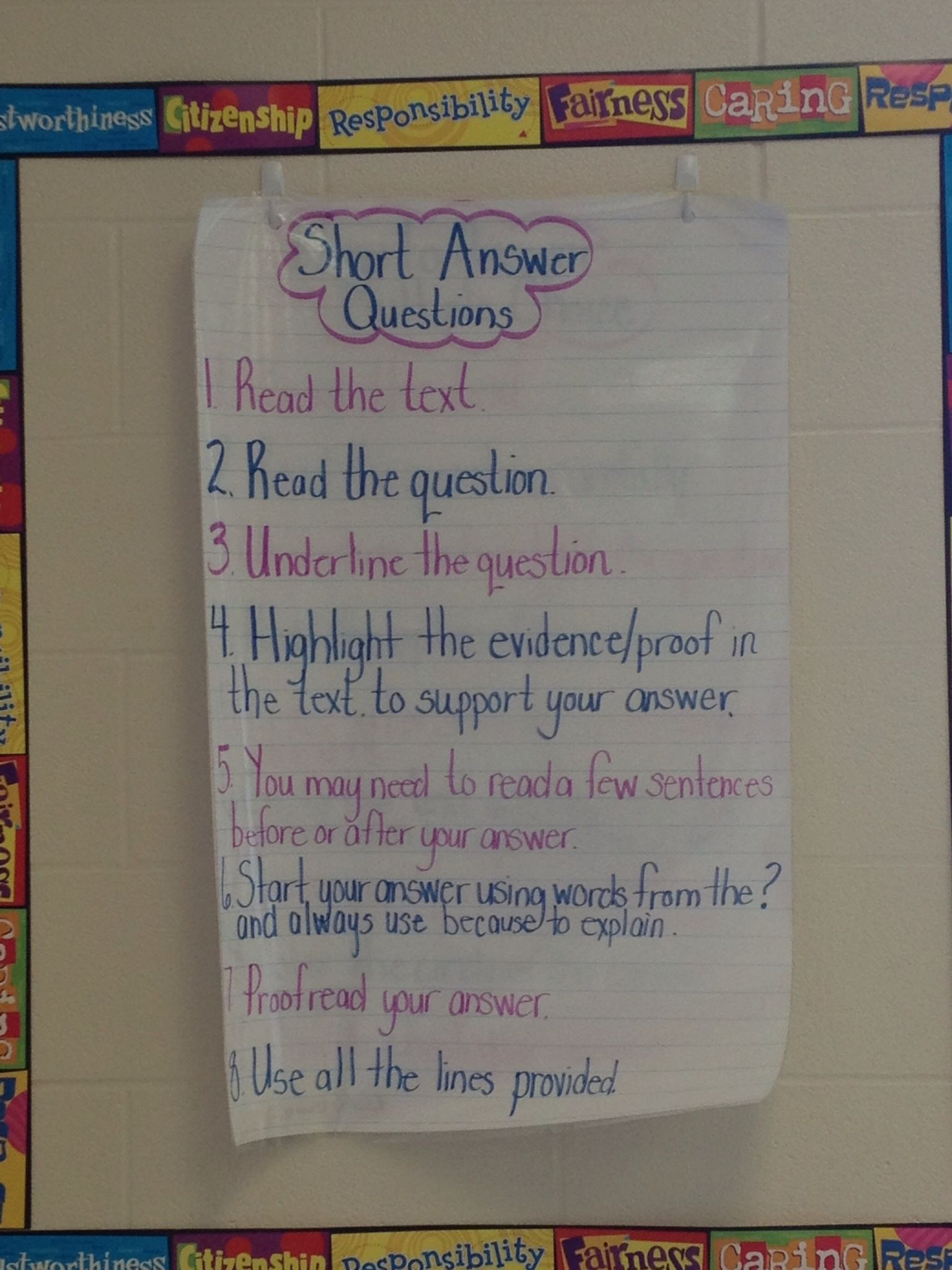 Grade 3 Eqao I Created This Anchor Chart With My Students
