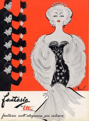 Fantasia evening gown, 1959  Illustration by Pierre-Laurent Brenot, 1962