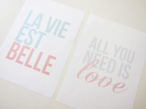 life is beautiful; all you need is love.