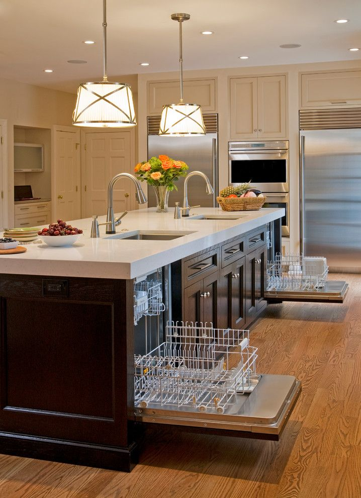 Commercial Dishwasher For Home In Kitchen Traditional With Beige Countertop Appliances Kosher Kitchen Design Traditional Kitchen Design Home Kitchens