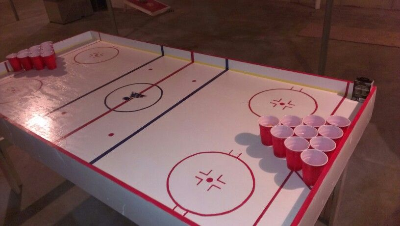 Blues Hockey Rink Beer Pong Table Beer Pong Tables