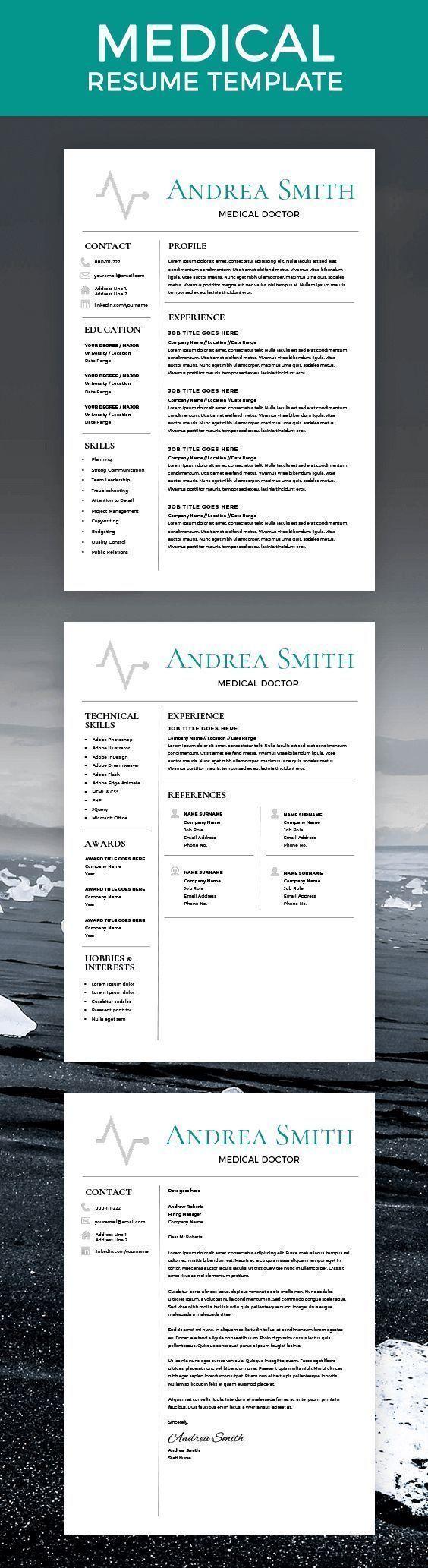 Nursing Resume, CNA Resume, Medical Assistant Resume, Nursing Student Resume,  LPN Resume · Resume Template FreeModern ...