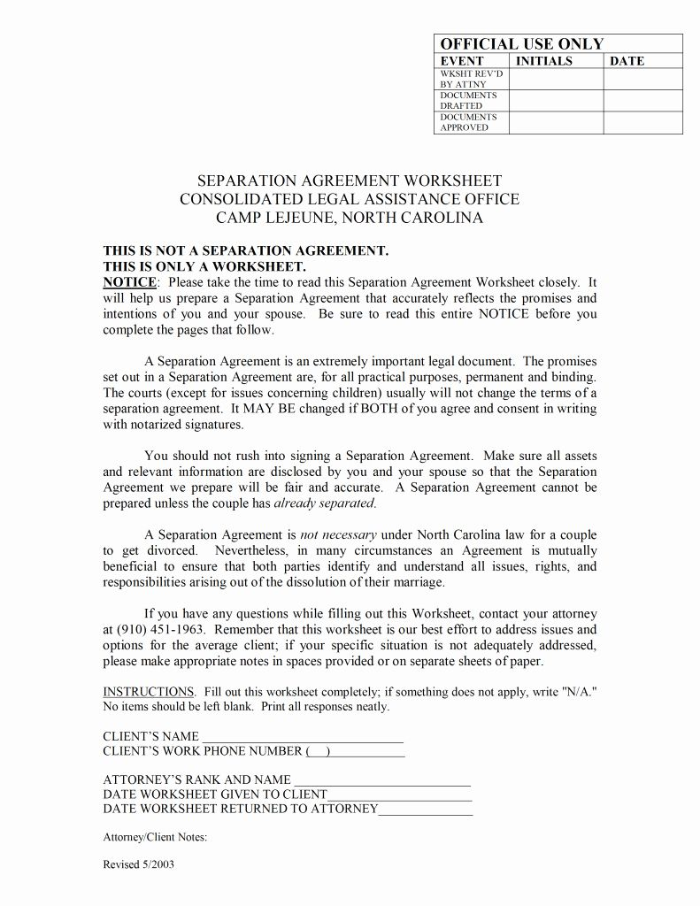 Business Separation Agreement Template Fresh Free