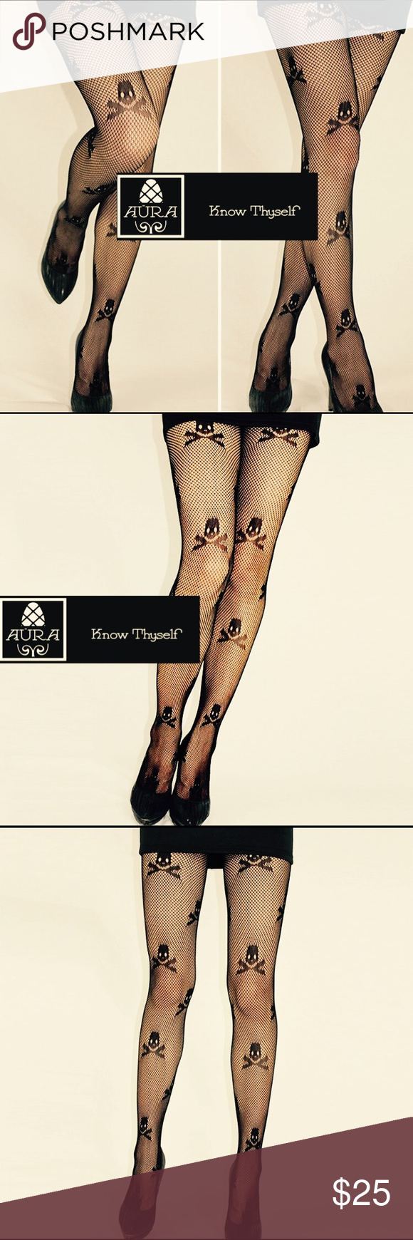 19ff27e49edf4 Skull and Bones Stockings These luxurious stockings are so sexy and buttery  soft to the touch