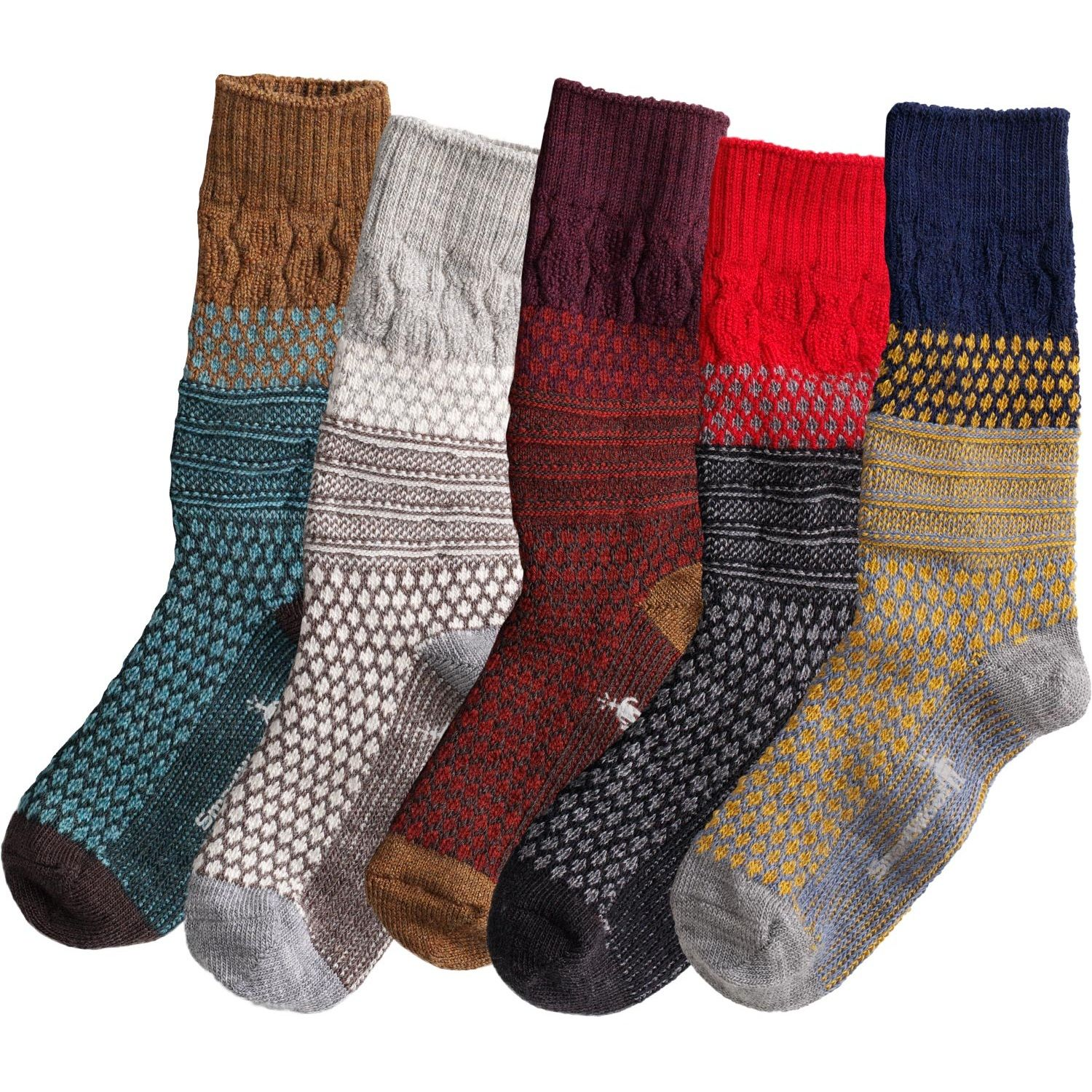 c0930aac41831 SmartWool Popcorn Cable Socks look cozily classic, but their performance is  totally high-tech. Their Wool-on-Wool technology absorbs shock with every  step.