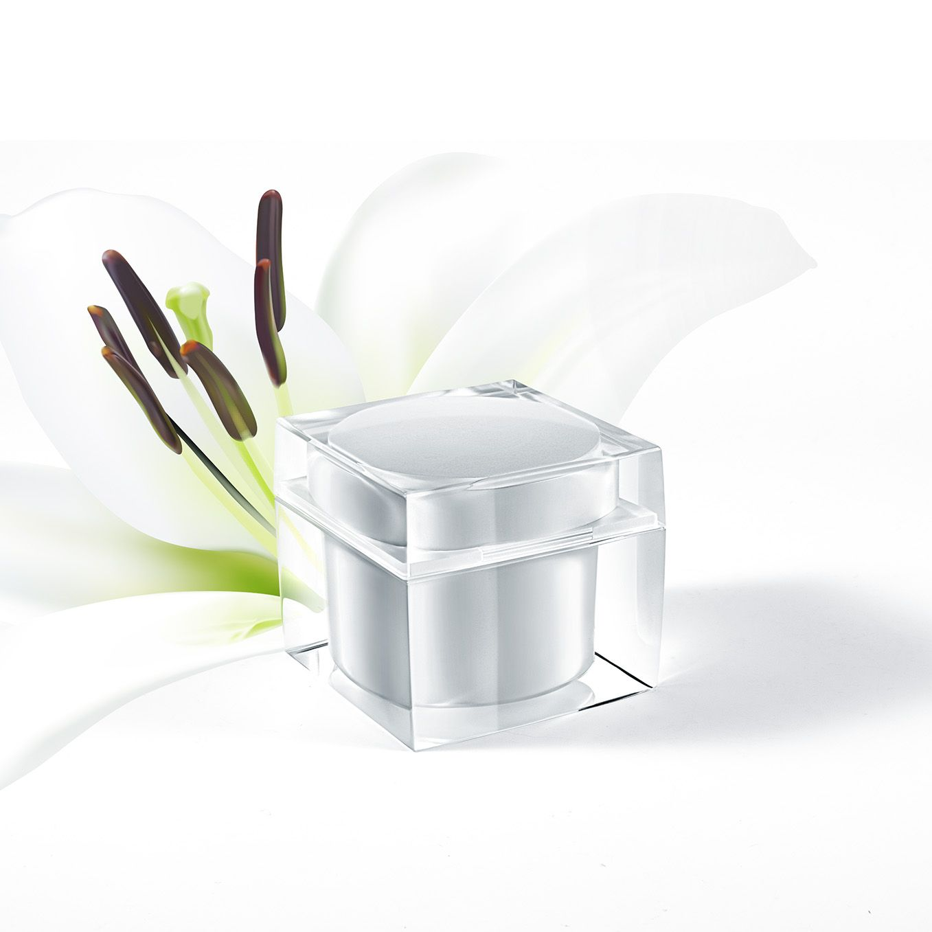A Very Beautiful Jar Are Shaped With A Square Packaging Outside An