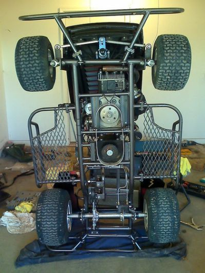 Make A Stacked Pulley With Lawn Mower Racing Lawn Mower