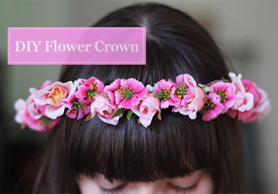 3-Step DIY Flower Crown