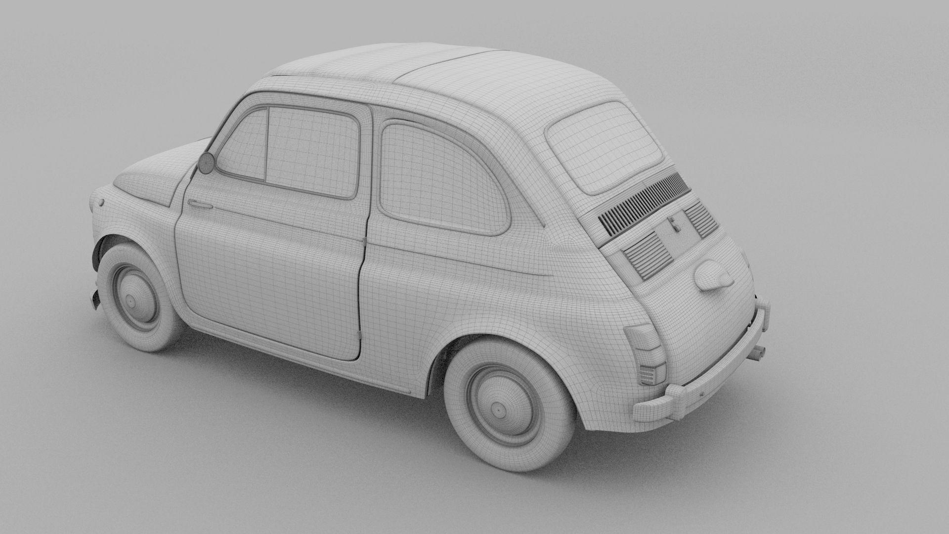 Fiat 500 Nuova 1957 With Interior Rusty Hdri Nuova Fiat Hdri