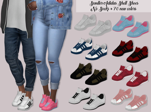Sims 4 CC's - The Best: SEMLLER ADIDAS SHELL SHOES NO SOCKS by Lumy Sims
