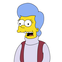 Penelope Mona Simpson (née Olsen) was the mother of Homer Simpson, the wife  of Abraham Simpson, the mother-in-law of Marge… | Maggie simpson, Marge  simpson, Simpson