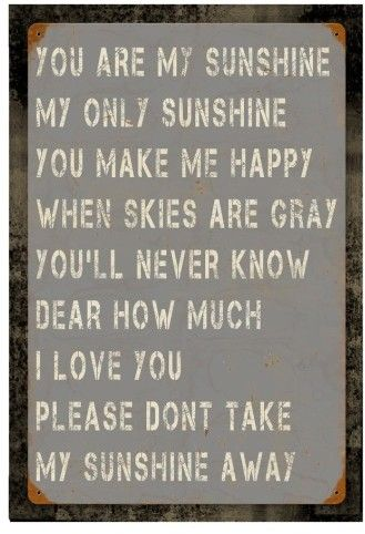 Poncho U0026 Goldstein You Are My Sunshine Wall Art This Weathered,  American Made Sign Features Distressed U0027You Are My Sunshineu0027 Stenciling  Against A Vintage ...