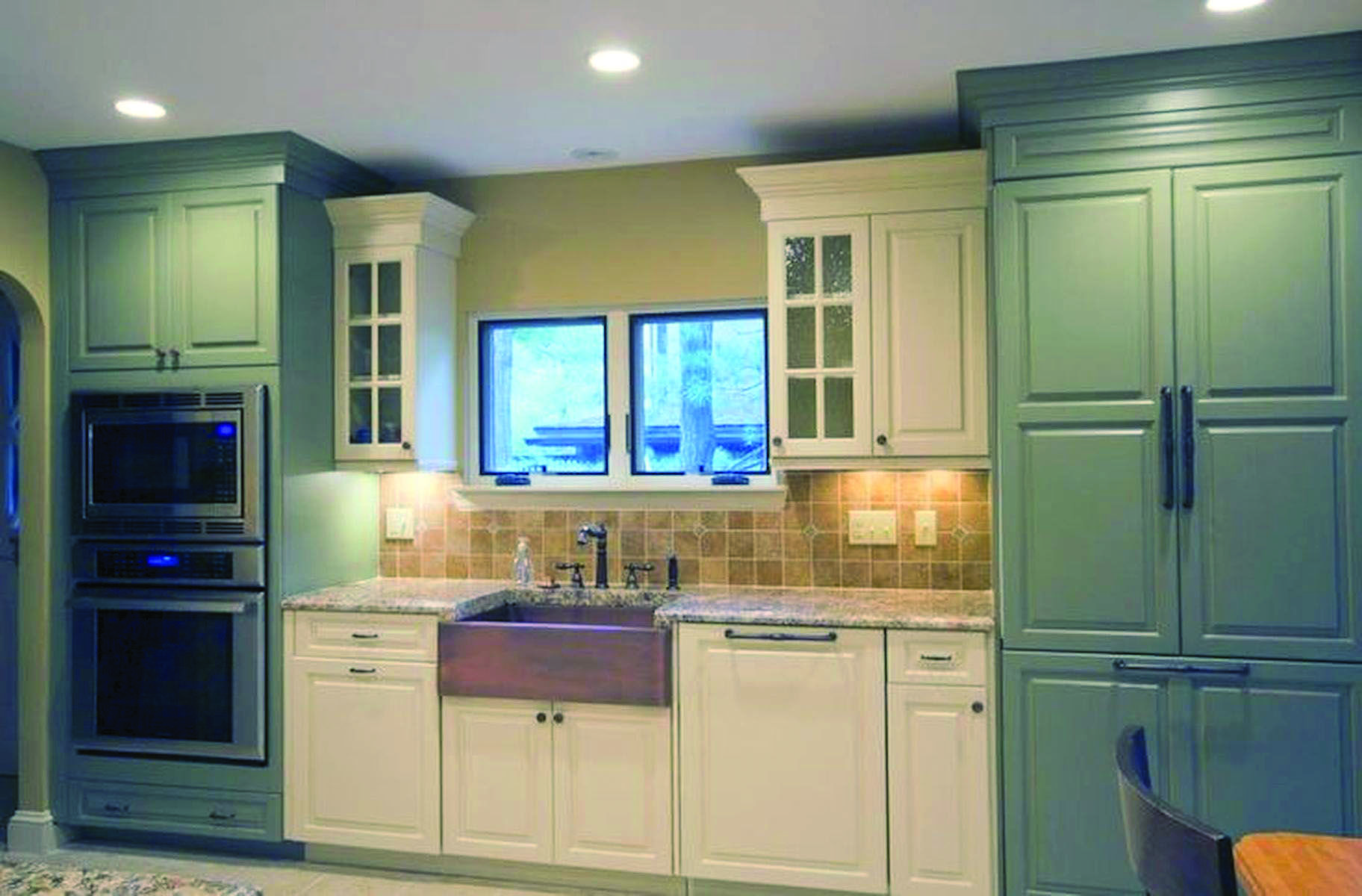 Leading Fad In Kitchen Cabinetry Style Homes Tre Blue Kitchen Cabinets Dark Blue Kitchens Dark Blue Kitchen Cabinets