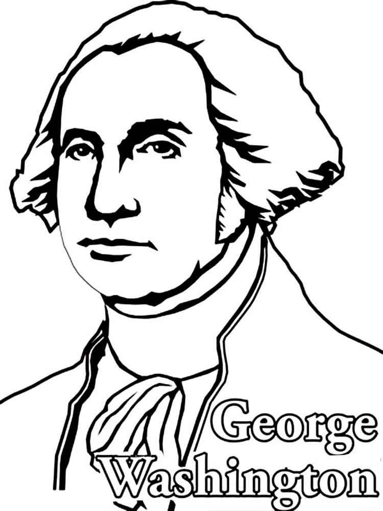 George Washington Coloring Pages George Washington Coloring