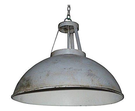 Einzigartiges Loft-Flair: Lampenschirm James, Grau, Ø 46 cm