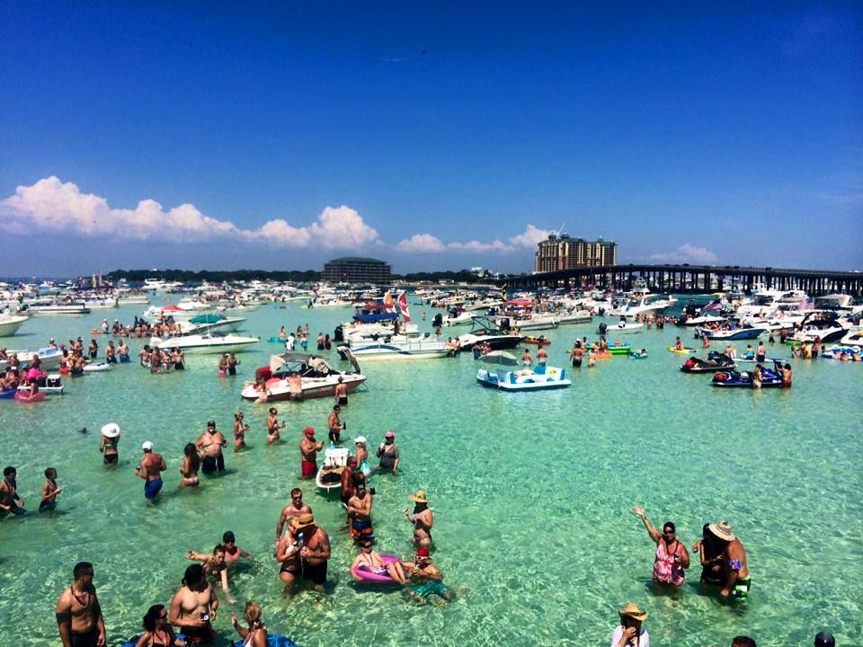 Memorial Day Weekend At Crab Island In Destin Vacation Locations Island Water Park Destin