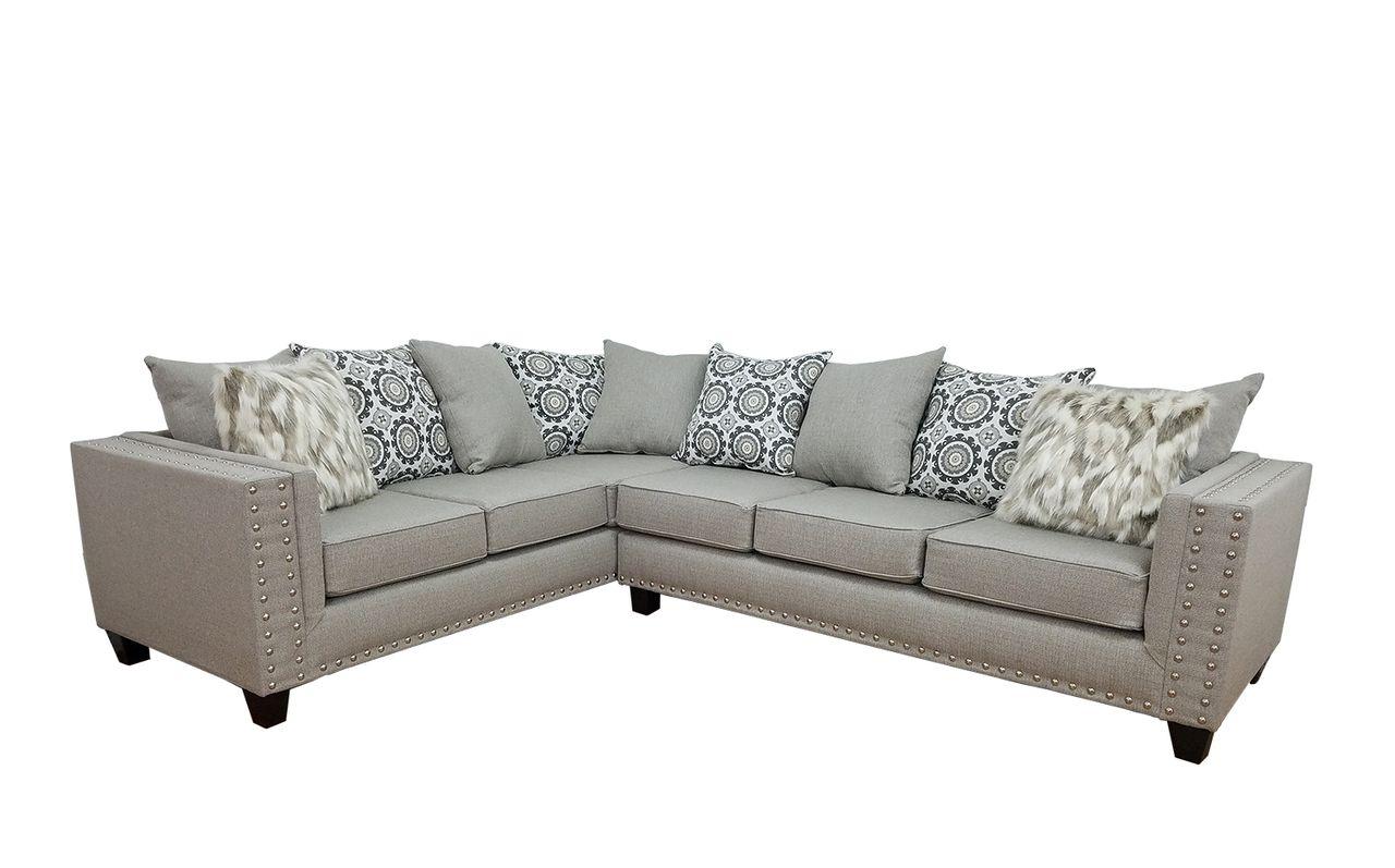 Kayla S Furniture 700 Grey Sectional Savvy Discount Furniture In 2020 Grey Sectional Sofa Grey Sectional Sectional Sofa