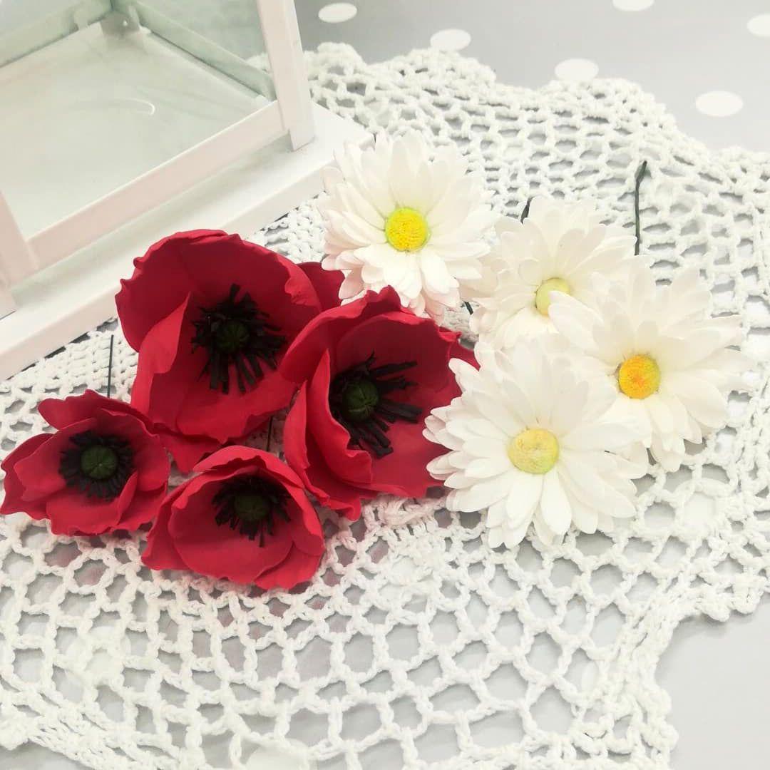Kwiaty Z Foamiranu Na Lakowy Wianek