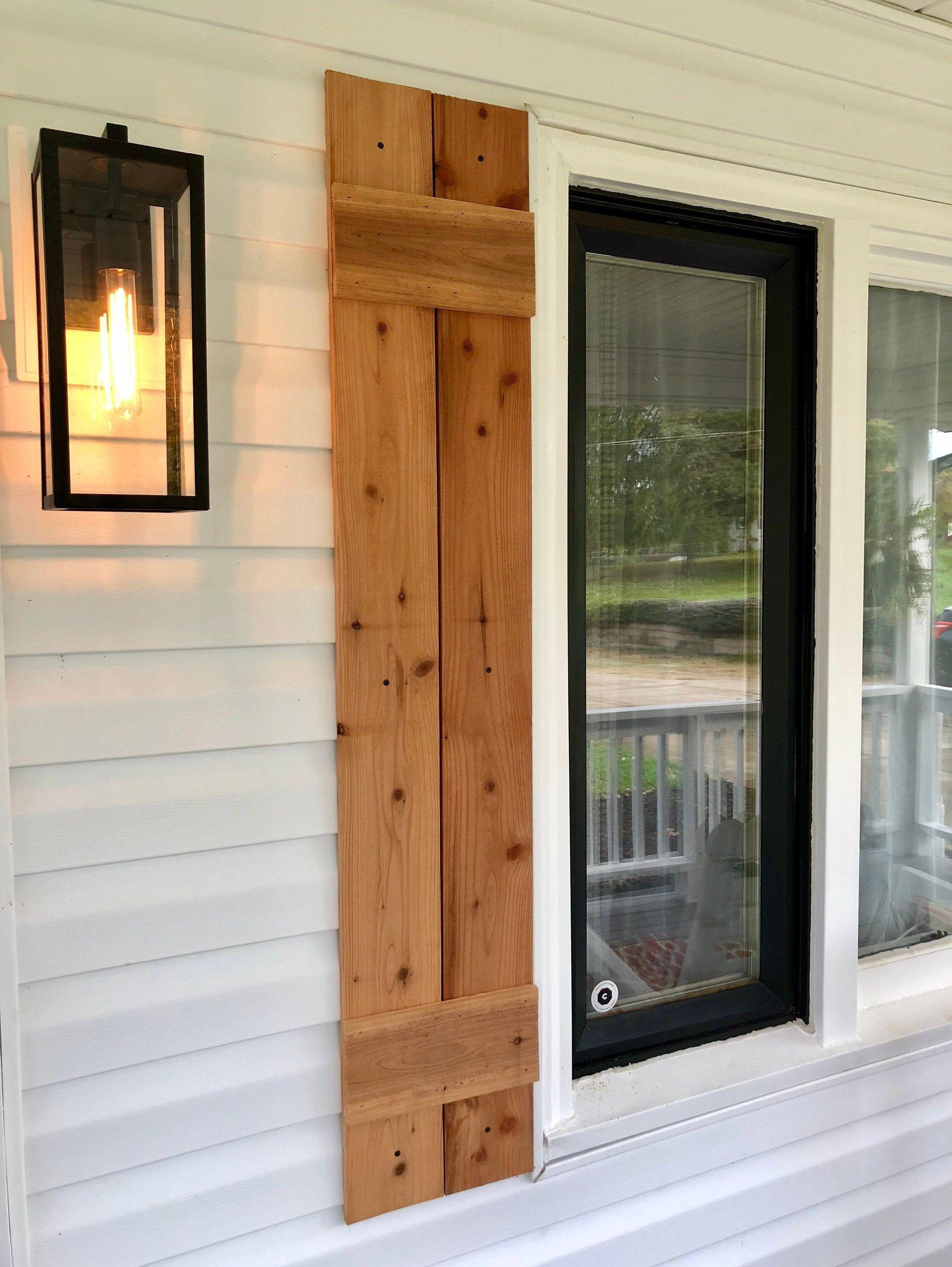 Handmade cedar wood shutters etsy in 2020 wood
