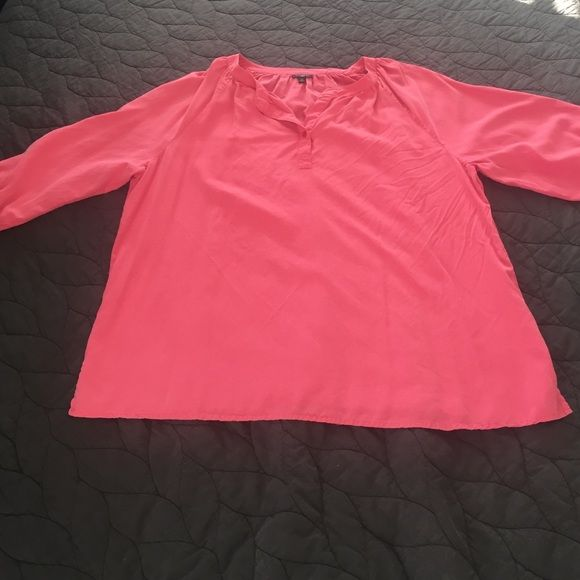 Talbots 100% silk pink blouse Talbots 100% silk pink blouse, size 2X Talbots Tops Blouses