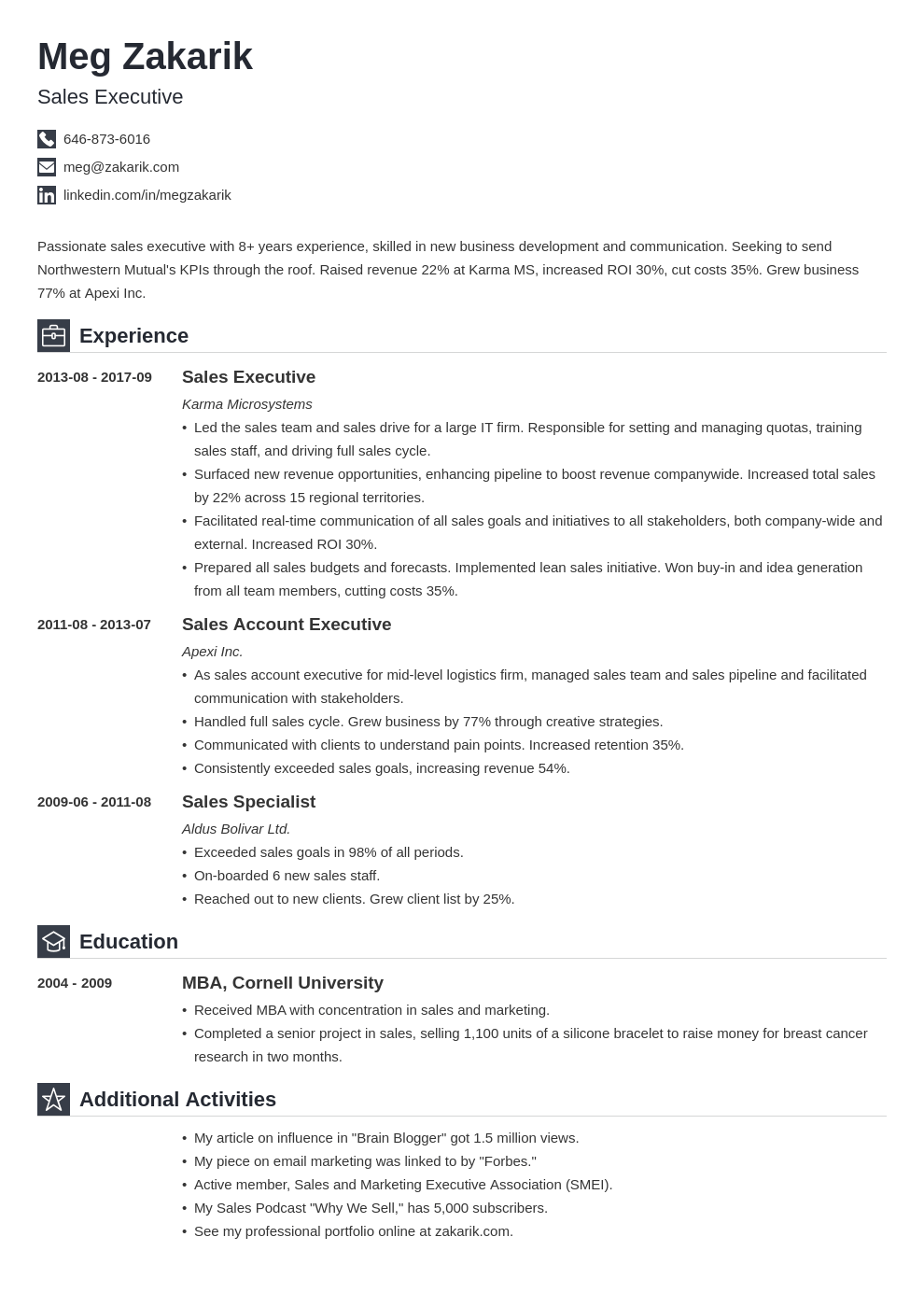 business resume example template iconic in 2020 Business