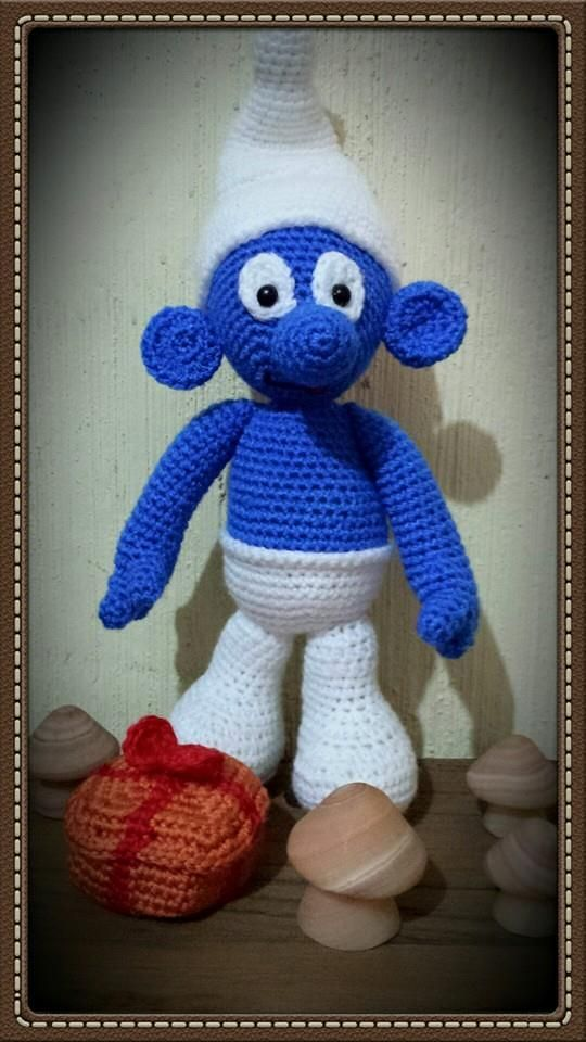 jokey smurf | Smurfs, Free pattern, Crochet