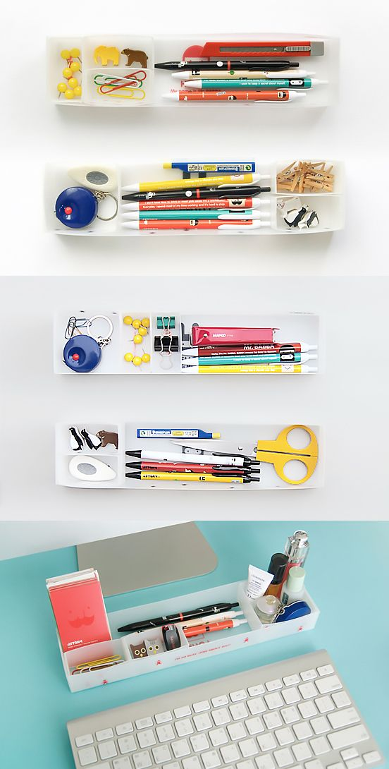 Check out this super cute & minimalistic desk organizer! This desk organizer is perfect for desks in dorm rooms where space is minimal. This desk tray is slim and compact and can fit well under most monitor set ups too! The desk tray comes with prebuilt compartments where you can sort and arrange all kinds of stationery items like pens, sticky notes, stickers, paperclips and more! You can also move the inner trays outside to fully utilize the larger tray and for even more storage solutions!