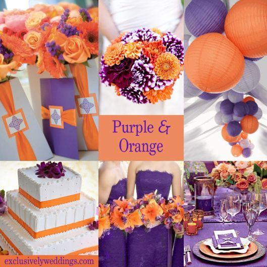 Burnt Orange And Purple Wedding Colors Orange Wedding Colors