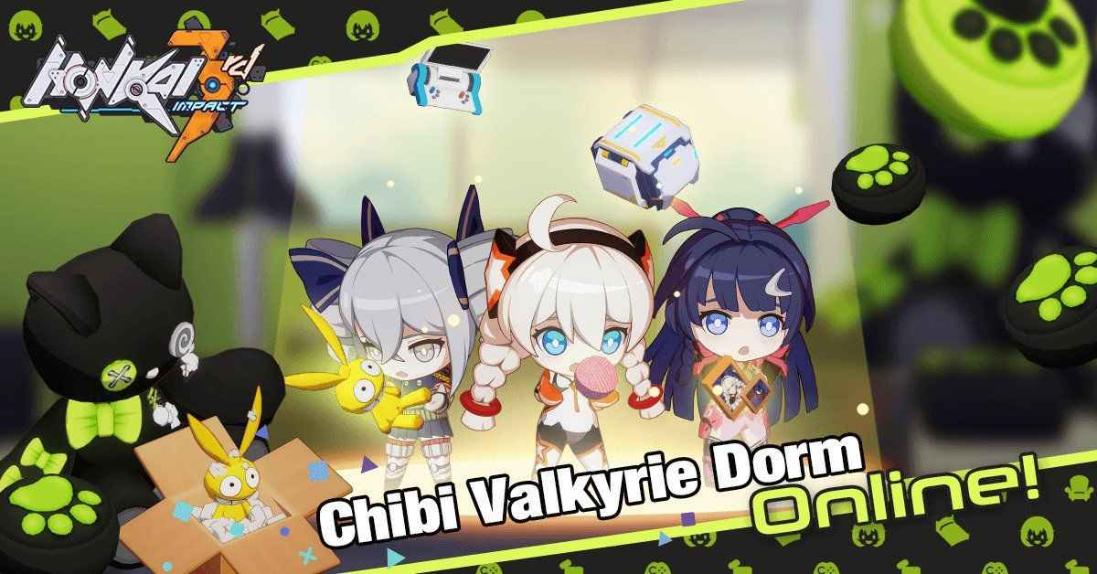 [Free Download] Kick back with chibi valkyrie in Honkai