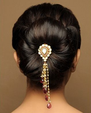 Beautiful Indian Bun Indian Bun Hairstyles Hair Accessories Beautiful Bridal Hair