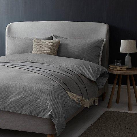 Buy John Lewis Croft Collection Euan Stripe Brushed Cotton Bedding Online At Johnlewis Com Brushed Cotton Bedding Luxury Bedding Sets Super King Duvet Covers