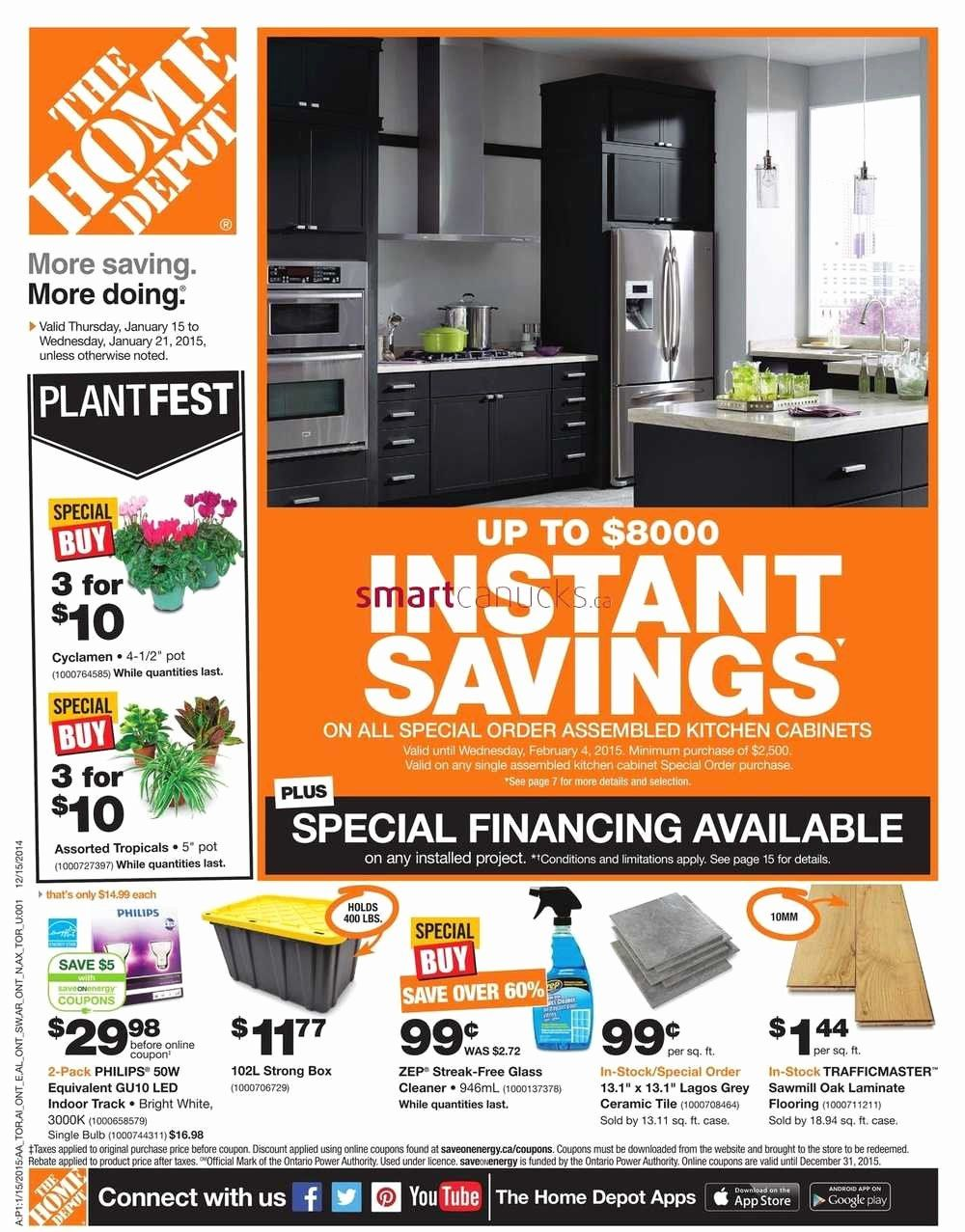 Home Depot Interior Design Android Lovely Home Depot On Flyer January 15 To 21 In 2020 Home Depot Hours Home Depot Interior Design