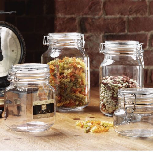 pot de conservation verre carr 1 5 l square clip kilner. Black Bedroom Furniture Sets. Home Design Ideas
