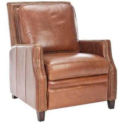Best Buddy Italian Leather Recliner Coffee Safavieh Brown 640 x 480