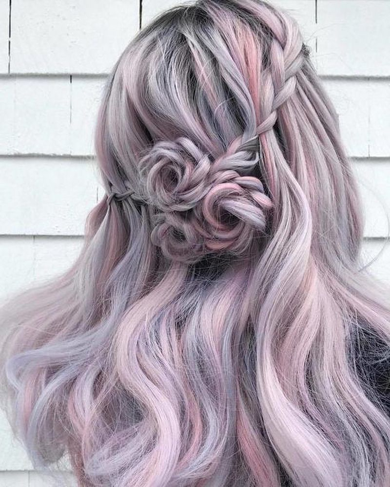 20 Rose Braid Hairstyles You Will Love In 2019 Who Does Not Love Flowers Prepare Yourselves To These Braided Hairstyles Lavender Hair Braided Hairstyles Easy
