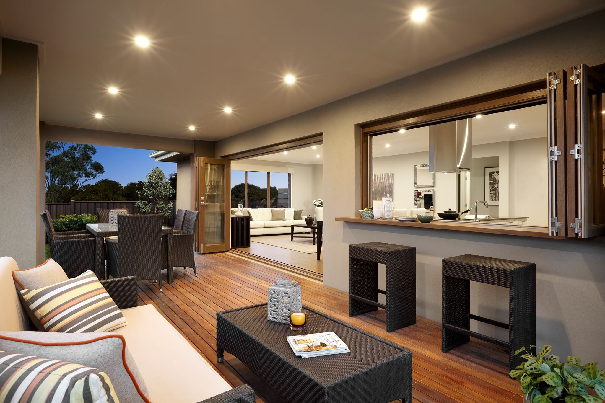 Love the decking and the bar from the kitchen need this at my