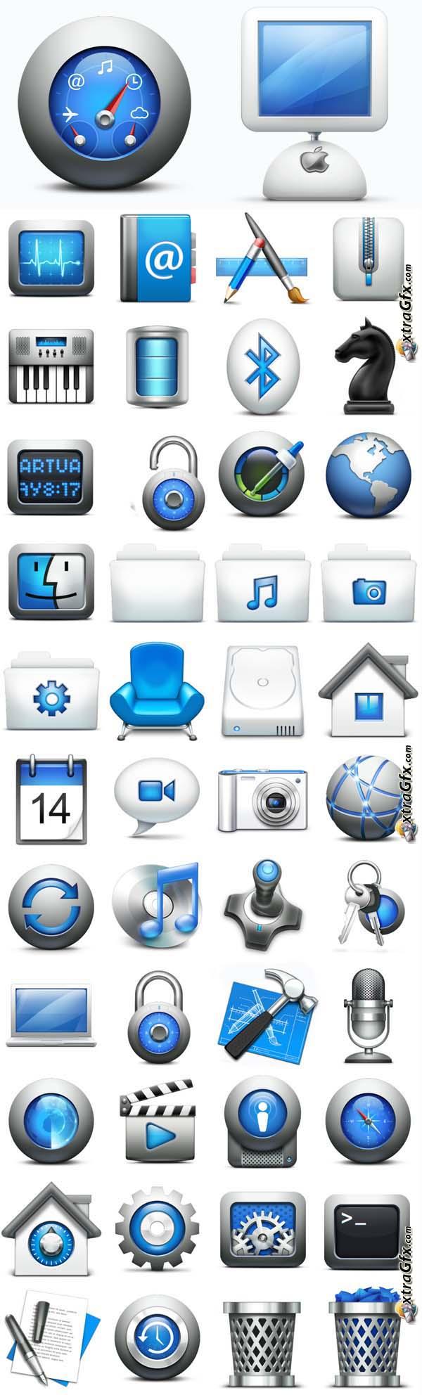 Mac OS X Style Icons 過去