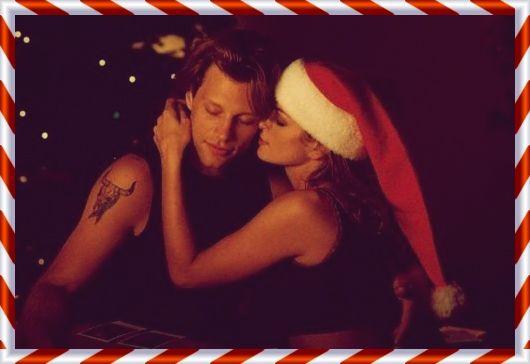 """Please come home for Christmas"" music video Bon Jovi and special guest star Cindy Crowford. 1993 #dreamxmas - JON BON JOVI WAS MY DREAM-MAN"