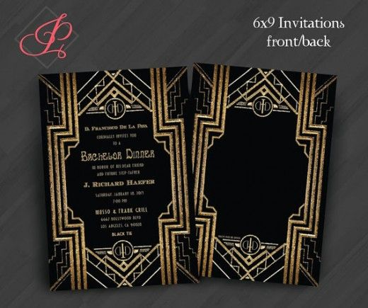 gatsby roaring 20s anniversary engagement invitations gatsby