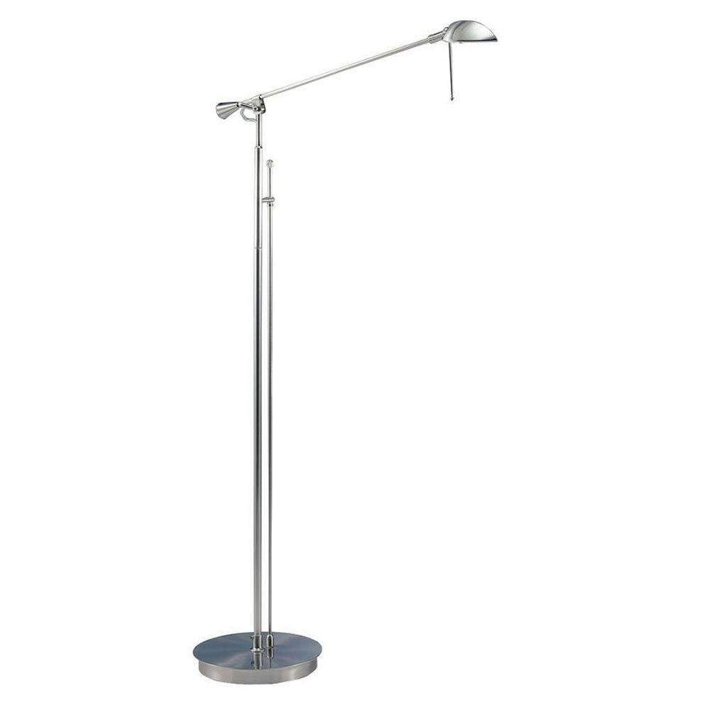 Satin Nickel Incandescent Floor Lamps CLI WDK282784   The Home Depot.  StehlampenFußbödenSatin