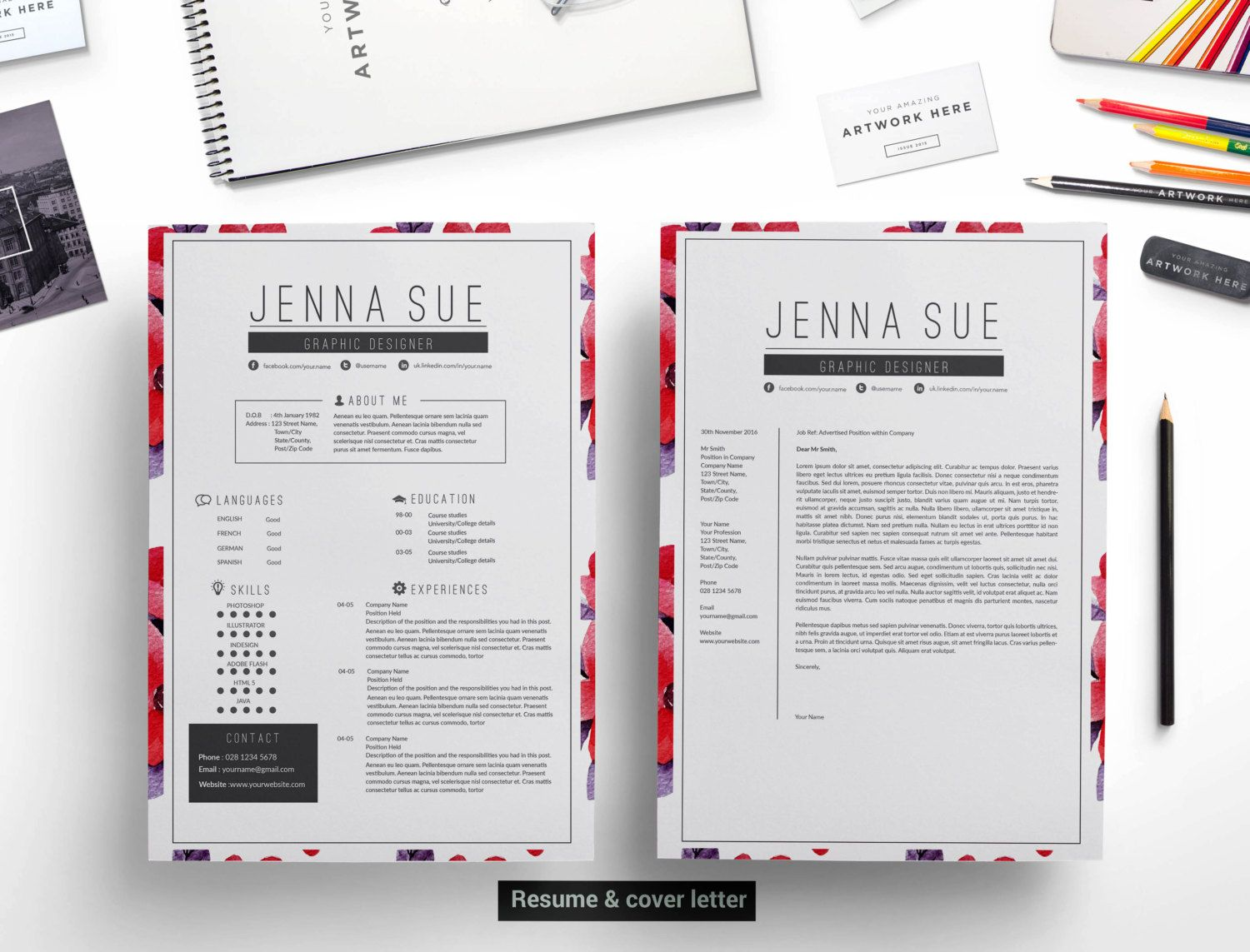CV template / resume template , cover letter template , reference ...