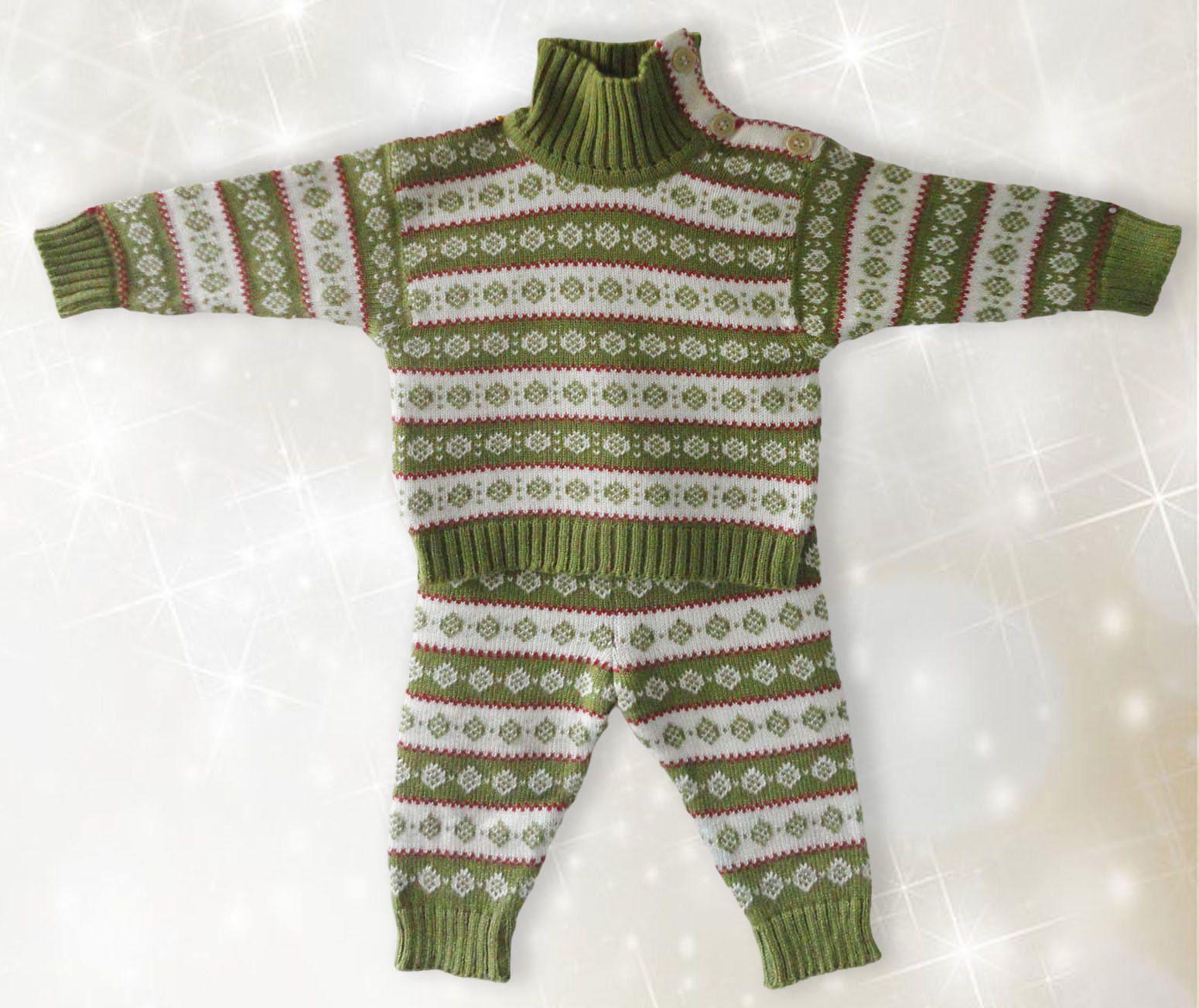 Scandinavian Baby set sweater Long pants Age 3 to 6 months