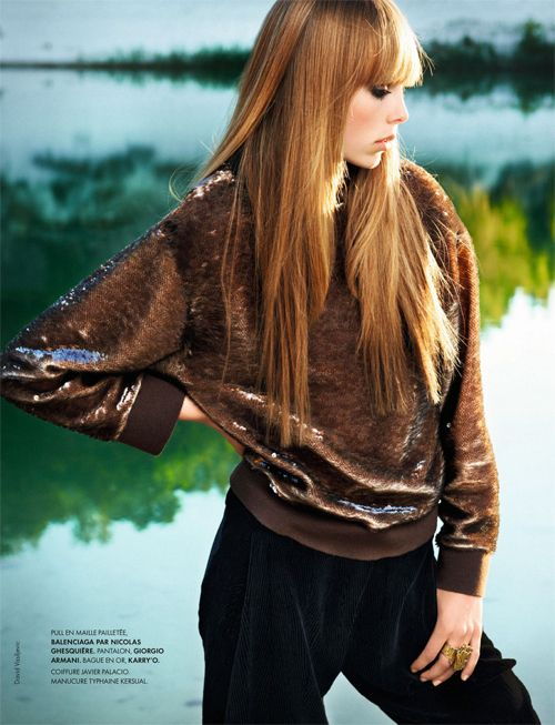Edie Campbell | David Vasiljevic | Elle France September 2012 | Peace and Chic