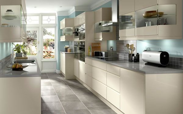 Kitchen Ideas Uk homebase galley kitchen - a design where all units and appliances