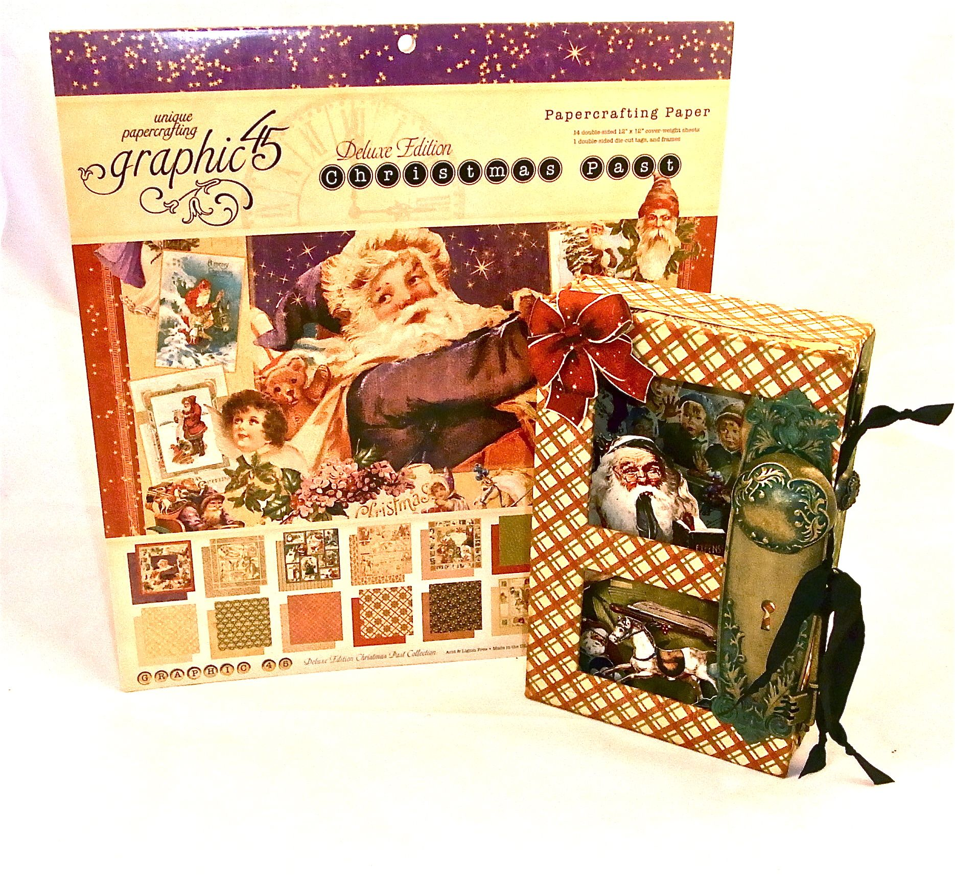 Title and Re-pin to win! Christmas Past altered art box by Diane Schultz owner of #Graphic45. Winner will be announced March 29 in our newsletter and on Facebook.