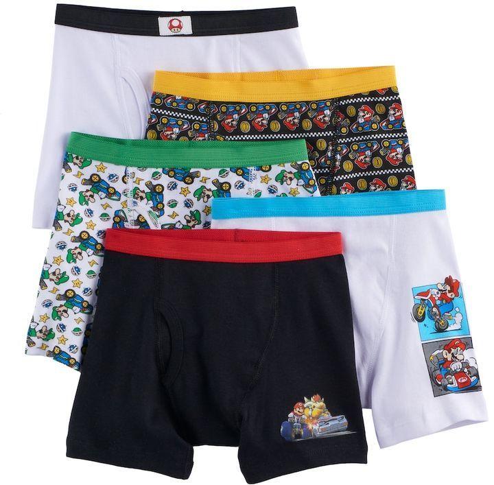 7bf2679e91 Boys 4-8 Super Mario Bros. 5-pack Boxer Briefs | Products | Super ...