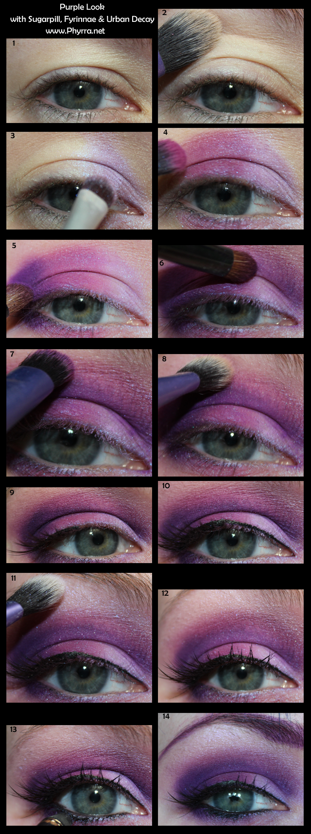 Sugarpill purple look tutorial best makeup tutorials pinterest sugarpill purple look tutorial baditri Image collections